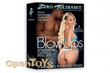 BlowUps Interracial Cuckold Doll Set